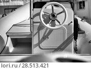 Wheel of a modern inflatable boat. Стоковое фото, фотограф Alexander Tihonovs / Фотобанк Лори