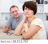 Купить «Sad mature woman experiencing family problems», фото № 28513797, снято 16 июля 2019 г. (c) Яков Филимонов / Фотобанк Лори