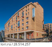 Купить «Отель «Аквамарин»», эксклюзивное фото № 28514257, снято 24 марта 2018 г. (c) Виктор Тараканов / Фотобанк Лори
