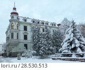 Купить «Winter morning Lviv city, Ukraine», фото № 28530513, снято 4 февраля 2018 г. (c) Юрий Брыкайло / Фотобанк Лори