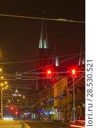 Купить «Night winter Lviv city, Ukraine», фото № 28530521, снято 10 декабря 2017 г. (c) Юрий Брыкайло / Фотобанк Лори