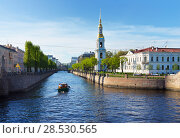 Купить «Saint Petersburg. Kryukov Canal and  the Belltower of St. Nicholas Naval Cathedral in spring afternoon (Nikolskiy Morskoy Sobor)», фото № 28530565, снято 13 мая 2018 г. (c) Виктория Катьянова / Фотобанк Лори