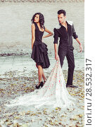 Купить «Portrait of beautiful couple, models of fashion, wearing spanish clothes», фото № 28532317, снято 15 декабря 2013 г. (c) Ingram Publishing / Фотобанк Лори