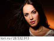 Купить «Portrait of attractive girl with fantasy lips. Make up. Perfect skin», фото № 28532913, снято 27 ноября 2012 г. (c) Ingram Publishing / Фотобанк Лори