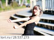 Купить «Beautiful and fashion girl with pigtails», фото № 28537273, снято 4 декабря 2011 г. (c) Ingram Publishing / Фотобанк Лори