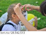 Купить «Рисунок на лице», фото № 28542513, снято 6 сентября 2014 г. (c) Владимир Казанков / Фотобанк Лори