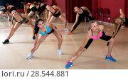Купить «Active females dancing excited posing», фото № 28544881, снято 31 мая 2017 г. (c) Яков Филимонов / Фотобанк Лори