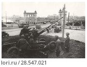 Купить «Зенитная батарея. Москва, 1941», фото № 28547021, снято 6 апреля 2020 г. (c) Retro / Фотобанк Лори