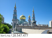 Купить «Московская соборная мечеть, Москва, Россия», эксклюзивное фото № 28547477, снято 28 мая 2018 г. (c) Елена Коромыслова / Фотобанк Лори