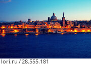 Купить «Night view of Valletta, Malta», фото № 28555181, снято 11 декабря 2010 г. (c) Яков Филимонов / Фотобанк Лори