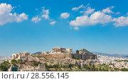 Купить «Timelapse of Parthenon, Acropolis of Athens, Greece», видеоролик № 28556145, снято 16 марта 2018 г. (c) Sergey Borisov / Фотобанк Лори