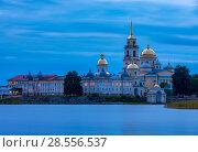 Купить «The Nilo-Stolobensky Monastery, Tver Region, Russia», фото № 28556537, снято 4 августа 2016 г. (c) photoff / Фотобанк Лори