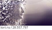 Digital gray pixelated 3d man. Стоковое фото, агентство Wavebreak Media / Фотобанк Лори