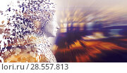 Profile view of digital pixelated 3d man. Стоковое фото, агентство Wavebreak Media / Фотобанк Лори