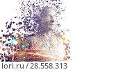 Composite image of pixelated gray 3d man. Стоковое фото, агентство Wavebreak Media / Фотобанк Лори