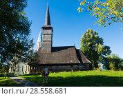 Купить «Image of wooden Biserica in Remetea Chioarului», фото № 28558681, снято 14 сентября 2017 г. (c) Яков Филимонов / Фотобанк Лори