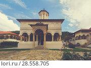 Купить «Horezu Monastery with church, Romania», фото № 28558705, снято 22 сентября 2017 г. (c) Яков Филимонов / Фотобанк Лори