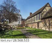 Купить «The Merchant Adventurers Hall a historic medieval guildhall in York Yorkshire England.», фото № 28568533, снято 19 апреля 2018 г. (c) age Fotostock / Фотобанк Лори