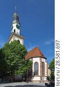 Купить «Госпитальная церковь в Штутгарте, Германия», фото № 28581697, снято 21 мая 2018 г. (c) Михаил Марковский / Фотобанк Лори