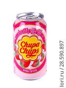 Купить «Chupa-Chups Soda», фото № 28590897, снято 17 июня 2018 г. (c) Art Konovalov / Фотобанк Лори