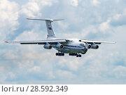 Купить «Ил-76МД (бортовой RF-78805) на посадке, аэродром Мигалово, Тверь», эксклюзивное фото № 28592349, снято 10 июня 2018 г. (c) Alexei Tavix / Фотобанк Лори