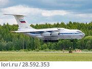 Купить «Ил-76МД (бортовой RF-78809) на посадке, аэродром Мигалово, Тверь», эксклюзивное фото № 28592353, снято 10 июня 2018 г. (c) Alexei Tavix / Фотобанк Лори