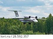 Купить «Ан-72 (бортовой RF-90372) на посадке, аэродром Мигалово, Тверь», эксклюзивное фото № 28592357, снято 10 июня 2018 г. (c) Alexei Tavix / Фотобанк Лори
