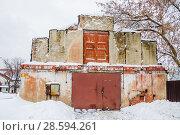 Фрагмент склада на ВДНХ, проспект Мира, 119, строение 295. Москва (2017 год). Редакционное фото, фотограф Алёшина Оксана / Фотобанк Лори
