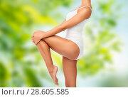 Купить «close up of young woman body in white underwear», фото № 28605585, снято 9 апреля 2017 г. (c) Syda Productions / Фотобанк Лори