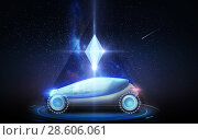 Купить «futuristic concept car over space background», фото № 28606061, снято 22 августа 2019 г. (c) Syda Productions / Фотобанк Лори