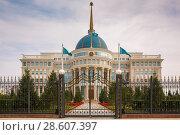 Купить «Residence of the President of the Republic of Kazakhstan Ak Orda in Astana, Kazakhstan», фото № 28607397, снято 25 августа 2015 г. (c) Владимир Пойлов / Фотобанк Лори