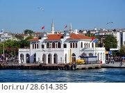 Стамбул, Турция. Пристань Кадыкёй, вид с Босфора (2018 год). Редакционное фото, фотограф Светлана Колобова / Фотобанк Лори