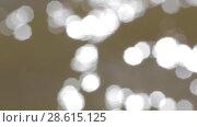Купить «Фон :  хаотическое движение расфокусированных светлых пятен сверху вниз справа налево», видеоролик № 28615125, снято 20 июня 2018 г. (c) Круглов Олег / Фотобанк Лори