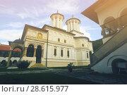 Купить «Monastery Horezu in romanian city», фото № 28615977, снято 22 сентября 2017 г. (c) Яков Филимонов / Фотобанк Лори