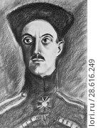 Купить «Портрет барона Врангеля», фото № 28616249, снято 4 января 2016 г. (c) Олег Хархан / Фотобанк Лори