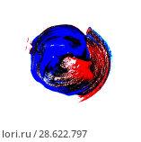 Купить «Текстурное изображение в виде круга. Абстрактный акриловый рисунок.», фото № 28622797, снято 11 мая 2018 г. (c) Алла Бурак / Фотобанк Лори