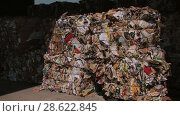 Купить «Recycling of garbage Cardboard paper production», видеоролик № 28622845, снято 14 июня 2018 г. (c) Aleksejs Bergmanis / Фотобанк Лори