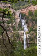 Sant Miquel del Fai with waterfall, Barcelona, Spain (2018 год). Стоковое фото, фотограф Яков Филимонов / Фотобанк Лори