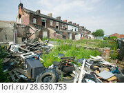 Купить «Illegal fly tipping in a rundown area of Blackburn, England, UK. June 2006», фото № 28630753, снято 20 января 2019 г. (c) Nature Picture Library / Фотобанк Лори