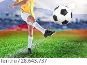 Купить «Composite image of football player», фото № 28643737, снято 16 августа 2018 г. (c) Wavebreak Media / Фотобанк Лори