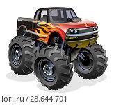 Купить «Cartoon Monster Truck», иллюстрация № 28644701 (c) Александр Володин / Фотобанк Лори