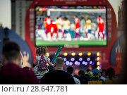 Купить «FIFA Fan Fest. Москва, Воробьевы горы, Чемпионат Мира по Футболу 2018», фото № 28647781, снято 27 июня 2018 г. (c) Julia Shepeleva / Фотобанк Лори