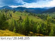 Купить «Illustration of scenic Karpaty mountains», фото № 28648205, снято 15 сентября 2017 г. (c) Яков Филимонов / Фотобанк Лори