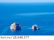 Купить «Скалы Адалары на Черном море, Крым», фото № 28648577, снято 11 июня 2018 г. (c) Natalya Sidorova / Фотобанк Лори