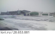 Купить «Aerodrome of Astana International Airport was covered with snow stock footage video», видеоролик № 28653881, снято 30 марта 2018 г. (c) Юлия Машкова / Фотобанк Лори