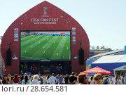 Купить «FIFA Fan Fest in Saint Petersburg during FIFA World Cup Russia 2018», фото № 28654581, снято 28 июня 2018 г. (c) Stockphoto / Фотобанк Лори