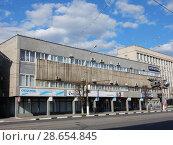 Купить «Главпочтамт. Отделение связи № 170100 (здание построено в 1978 году). Советская улица, 31. Центральный район. Город Тверь. Тверская область», эксклюзивное фото № 28654845, снято 1 мая 2016 г. (c) lana1501 / Фотобанк Лори