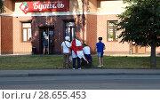 Купить «Английские болельщики на улицах Калининграда», фото № 28655453, снято 28 июня 2018 г. (c) Ed_Z / Фотобанк Лори
