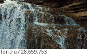 Купить «El Torrent de la Cabana small mountain stream with crystal clear water», видеоролик № 28659753, снято 23 марта 2018 г. (c) Яков Филимонов / Фотобанк Лори