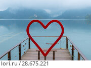 Купить «Lake Bled for lovers, Slovenia», фото № 28675221, снято 16 сентября 2016 г. (c) Игорь Овсянников / Фотобанк Лори